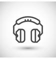 Headphones line icon vector image