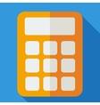 Modern flat design concept icon calculator vector image