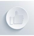 modern light thumbs up circle icon vector image