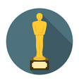 Movie award flat icon vector image