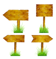 Set of blank wooden pointers vector image