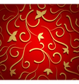 Simple floral red seamless vector image
