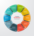 pie chart infographic template 10 options vector image