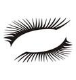 Black eyelashes icon on a white background vector image
