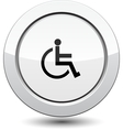 Button with man in wheelchair vector image