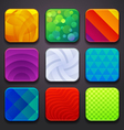 background for the app icons-part 6 vector image