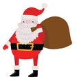 Santa Claus with gift bag Christmas background vector image