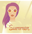 summer girl vector image vector image