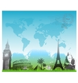 Beautiful Travel europe background vector image vector image