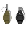 Military grenade Set of military hand grenade vector image