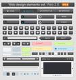 web design elements set black vector image vector image
