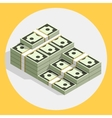 Piles stacks cash money flat vector image
