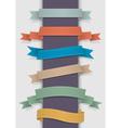 Retro ribbons vector image vector image
