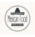Mexican food logo vector image vector image