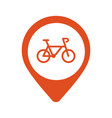 bicycle parking map pointer icon on white vector image