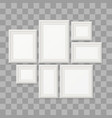 empty white picture frames 3d photo borders vector image