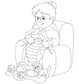 Granny knitting vector image