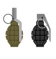 Military grenade Set of military hand grenade vector image