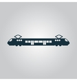 Suburban electric train vector image