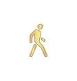 Walk Man computer symbol vector image