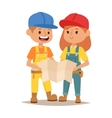 Builders kid vector image