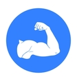 Biceps icon in black style isolated on white vector image