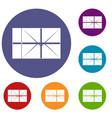 Postal parcel icons set vector image