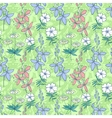 Green wild flowers seamless pattern vector image vector image