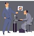 Boss encouraging an employee vector image