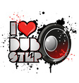 Dubstep background vector image