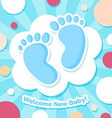 Welcome Baby Card vector image vector image