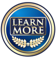 Learn More Blue Label vector image