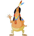 american indian man vector image vector image