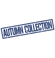 autumn collection stamp vector image
