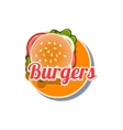 Burger Sticker vector image