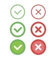 check mark line icons set vector image