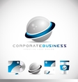 Corporate business 3d sphere logo vector image
