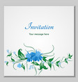 greeting card with stylized flower bells can be vector image