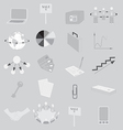 Set with Grayscale Business Icons vector image