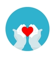flat icon broken heart vector image