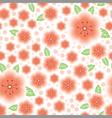 flower pink pattern vector image vector image