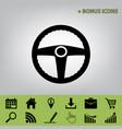 car driver sign  black icon at gray vector image