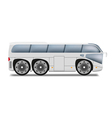 Cartoon bus with big wheels vector image