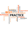 word cloud best practice vector image