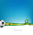 brazil background with soccer ball vector image vector image