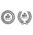 Award Laurel Wreath Best Price Label vector image