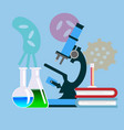 biology science education concept poster vector image