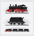 classic cargo train on a rail road vector image