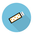 flat usb flash drive vector image