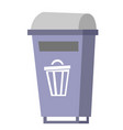 garbage bin cartoon vector image